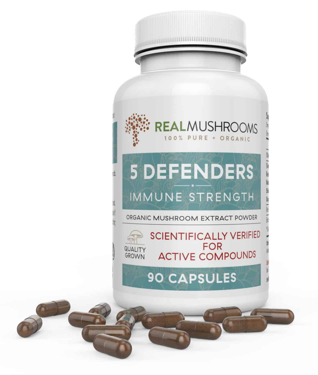 Real Mushrooms 5 Defenders Capsules
