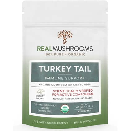 Turkey Tail Mushroom Extract pouch