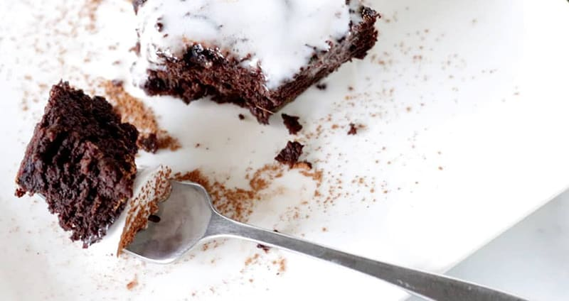 Peppermint Chocolate Sweet Potato Cake