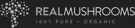 real mushrooms logo white