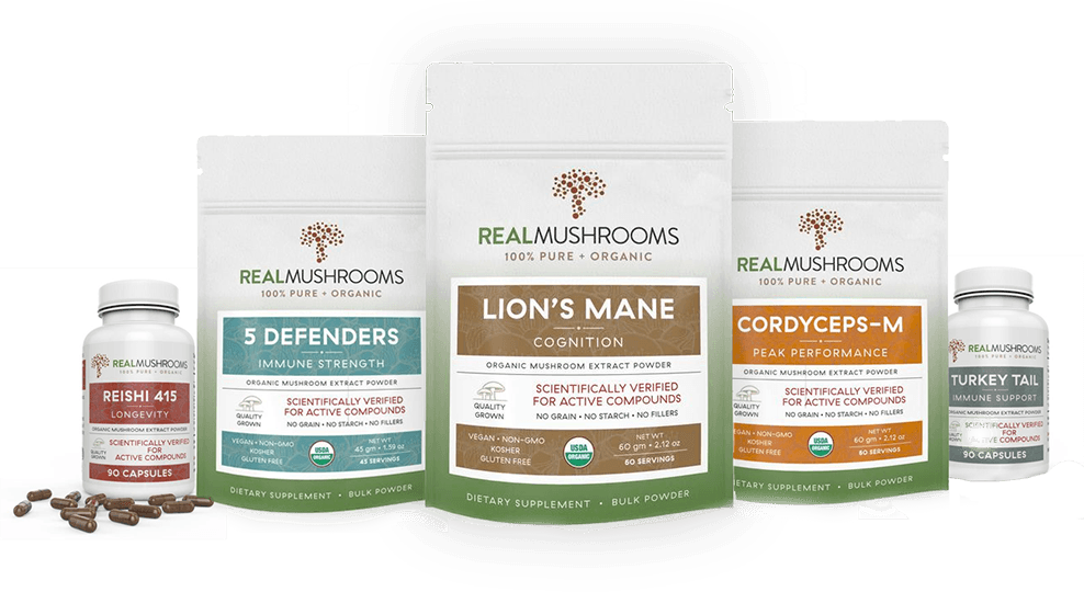 real mushrooms organic mushroom extract powders and capsules