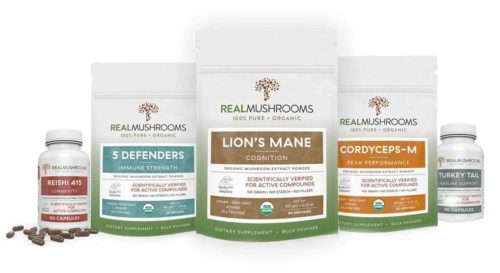 Real Mushrooms product line
