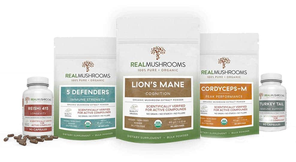 Real Mushrooms product line for Immune Support