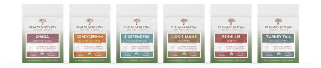 Real Mushrooms Organic Mushroom Extract Powders