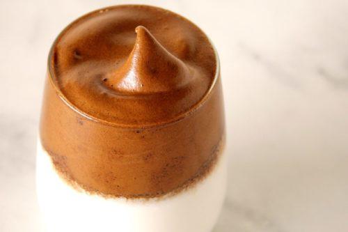 dalgona coffee with medicinal mushrooms