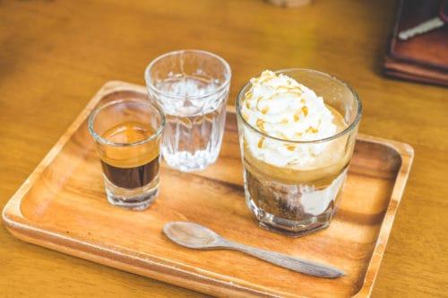 affogato coffee with medicinal mushrooms