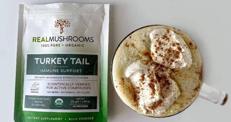 Healthy Pumpkin Spice Latte Recipe Turkey Tail Mushroom Extract
