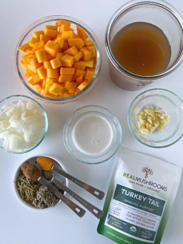 Turkey Tail soup ingredients